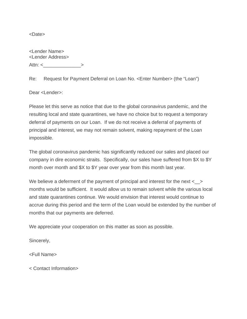 Personal Loan Letter Sample from attorneydocs.com